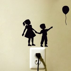 big sister and little brother wall decal