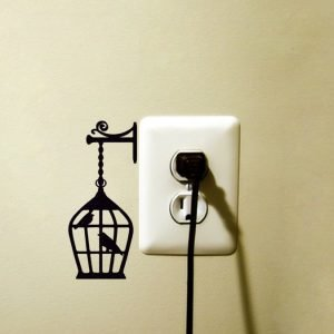birdcage decor sticker