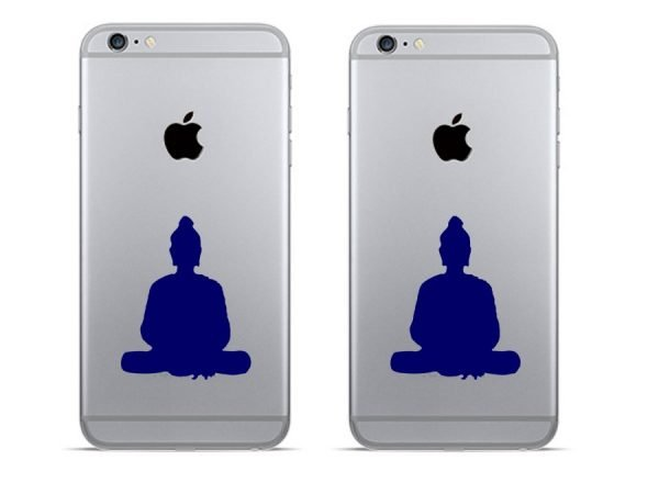 blue Buddha phone decor