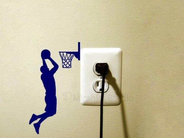 blue decal basketball player