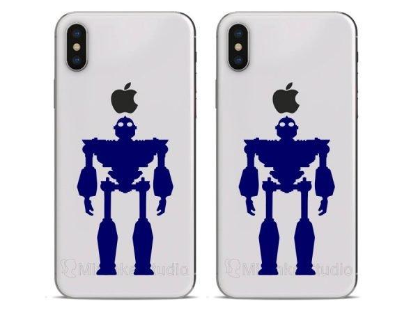 blue iron giant phone decor