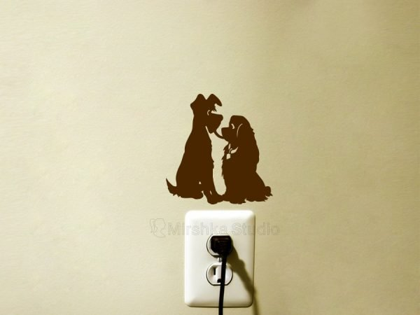 brown lady and tramp decal