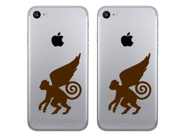 brown monkeys decals