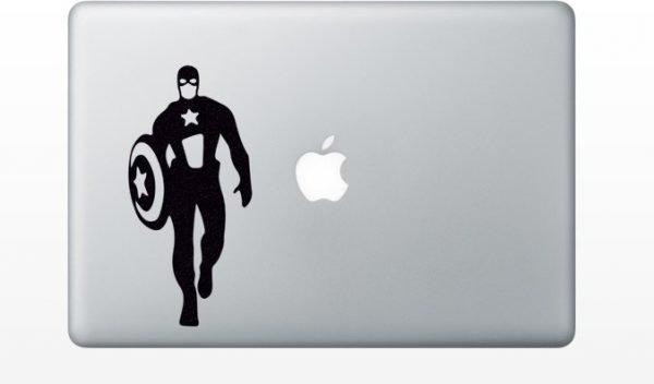 captain america mac sticker