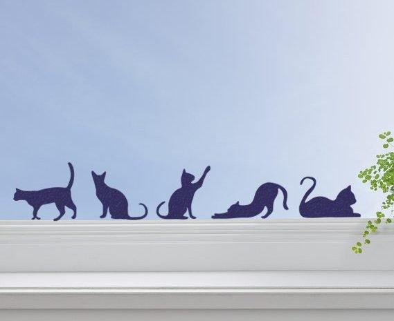 cat stickers window decor
