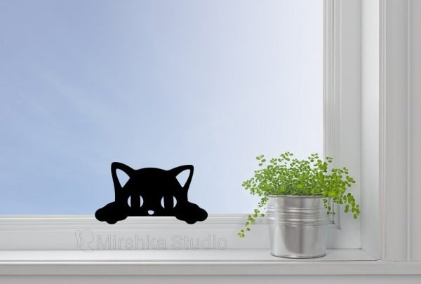 cat window sticker