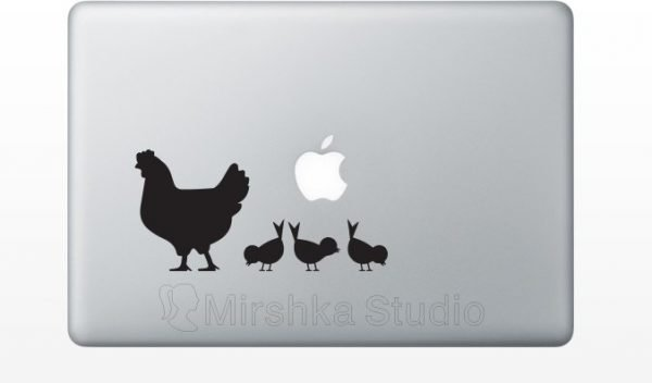 chicks light switch stickers