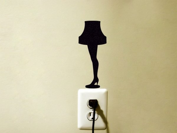 christmas story leg lamp sticker