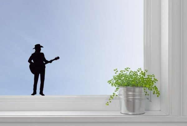 country singer window decal