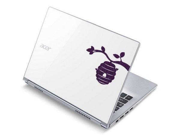 cute bumblebees laptop sticker
