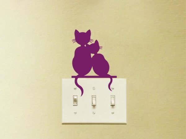 cute cats wall decal