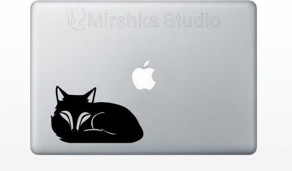cute fox macbook sticker