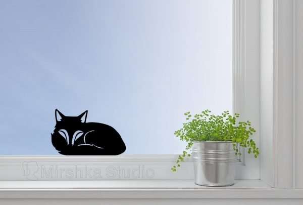 cute fox window art