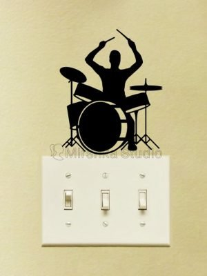 drum set decor for music room