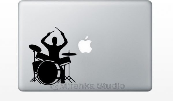 drum set macbook sticker