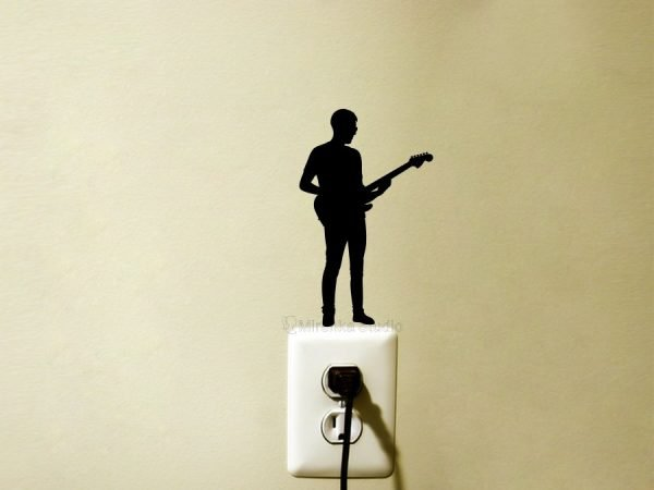 electric guitar music sticker