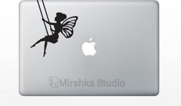 fairy in a swing mac sticker