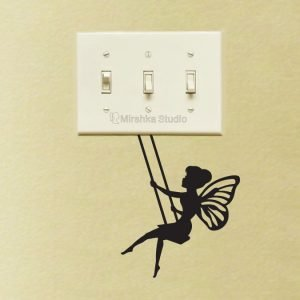 fairy on swing decal