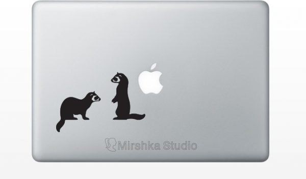 ferrets macbook decor