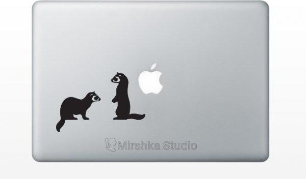 ferrets macbook decor