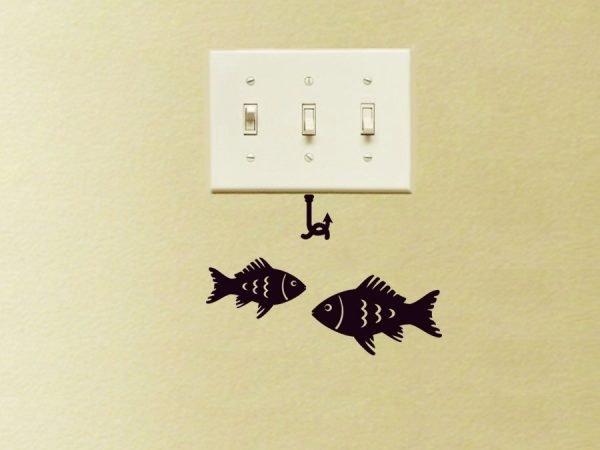 fish wall decor sticker