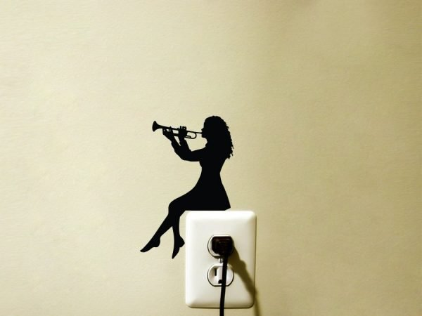 gifts for music lovers - trumpet decal