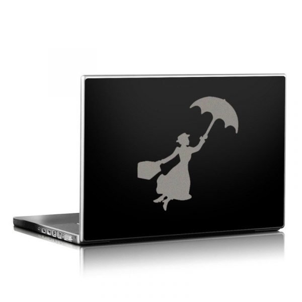 gray mary poppins laptop decal