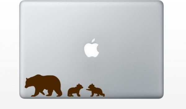 grizzly bears macbook decals