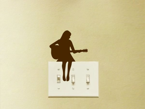 guitar player decal