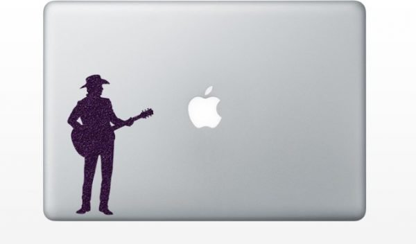 guitar player mcbook sticker