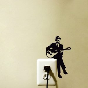 guitar player wall art