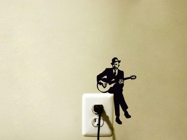 guitar player wall art
