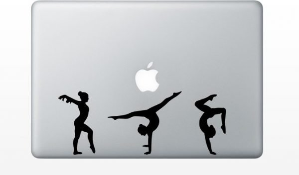 gymnastics mac sticker