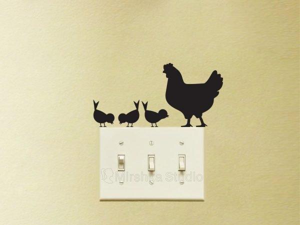 chicken decor sticker