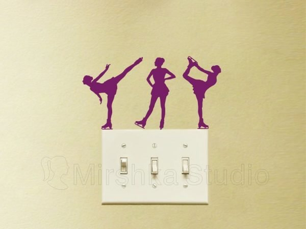 ice skaters wall stickers