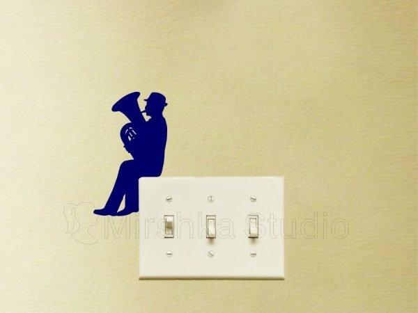 jazz wall decor sticker