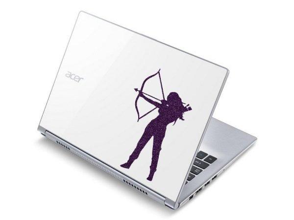 Katniss Everdeen laptop sticker