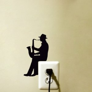 man playing sax wall art