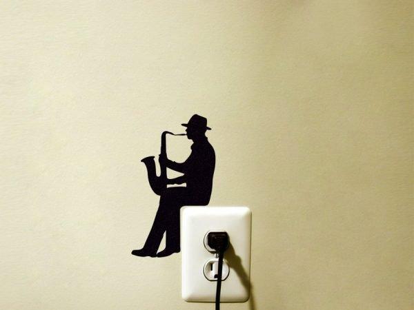 man playing sax wall art