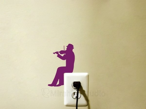 man playing violin wall decal