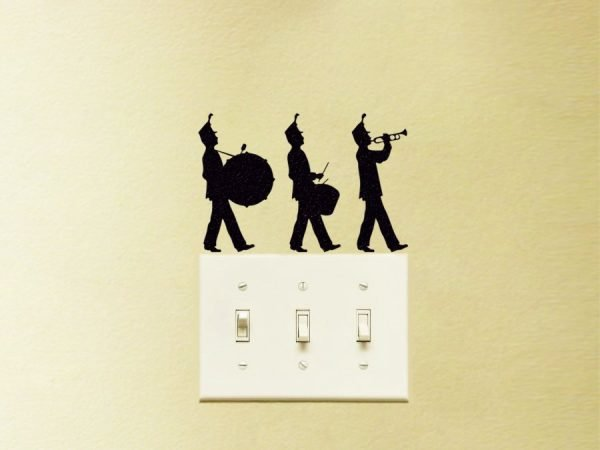 marching band silhouette sticker