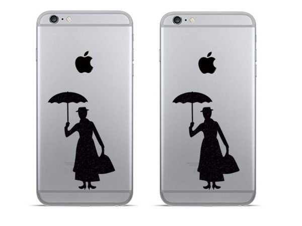 mary poppins fabric phone decals