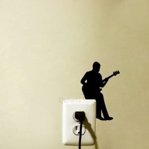 music home decor bass player