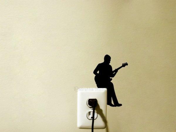 music home decor bass player