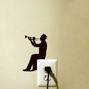 music wall decor trumpet