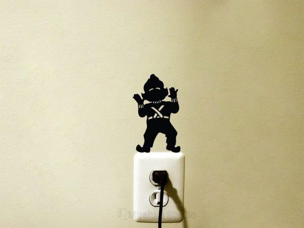 oompa loompa light switch sticker