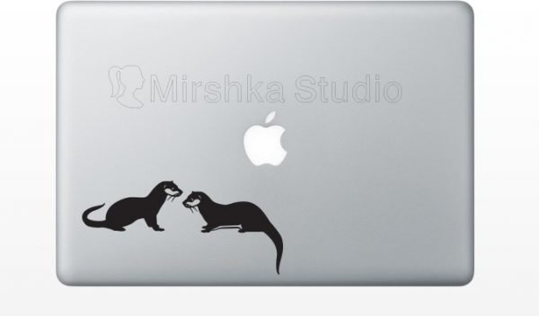otters laptop decals
