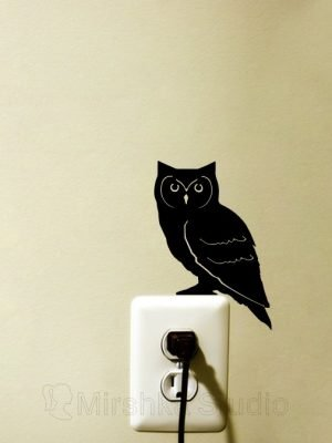 owl home decor decal