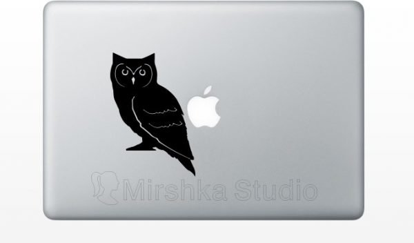 owl laptop decor
