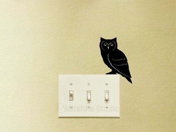 owl light switch sticker